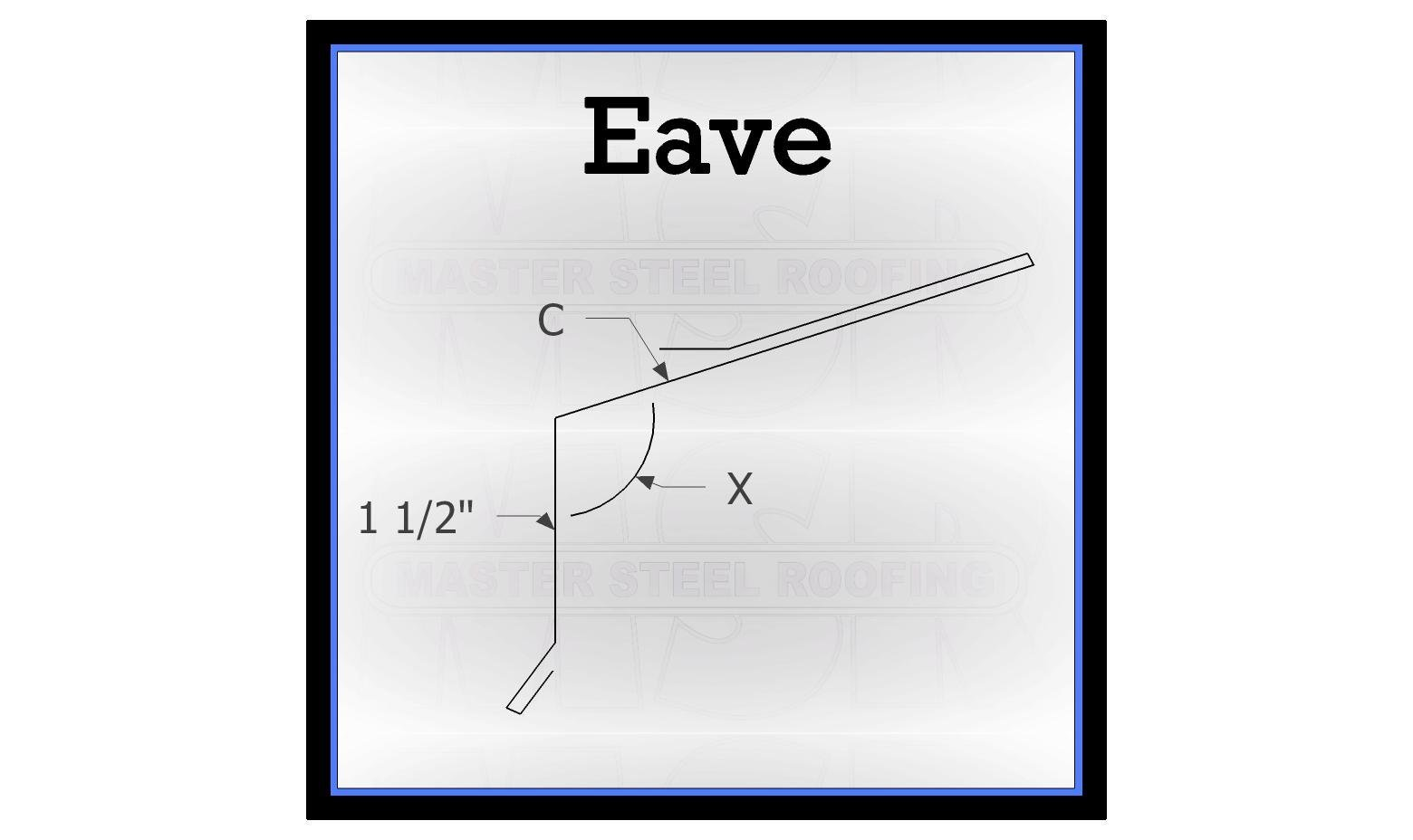 Eave Trim 10 Long 26 Gauge Smp Standard Color