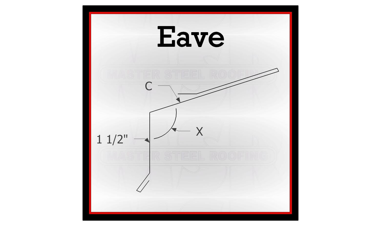 Eave Trim 10 Long 24 Gauge Kynar Standard Color
