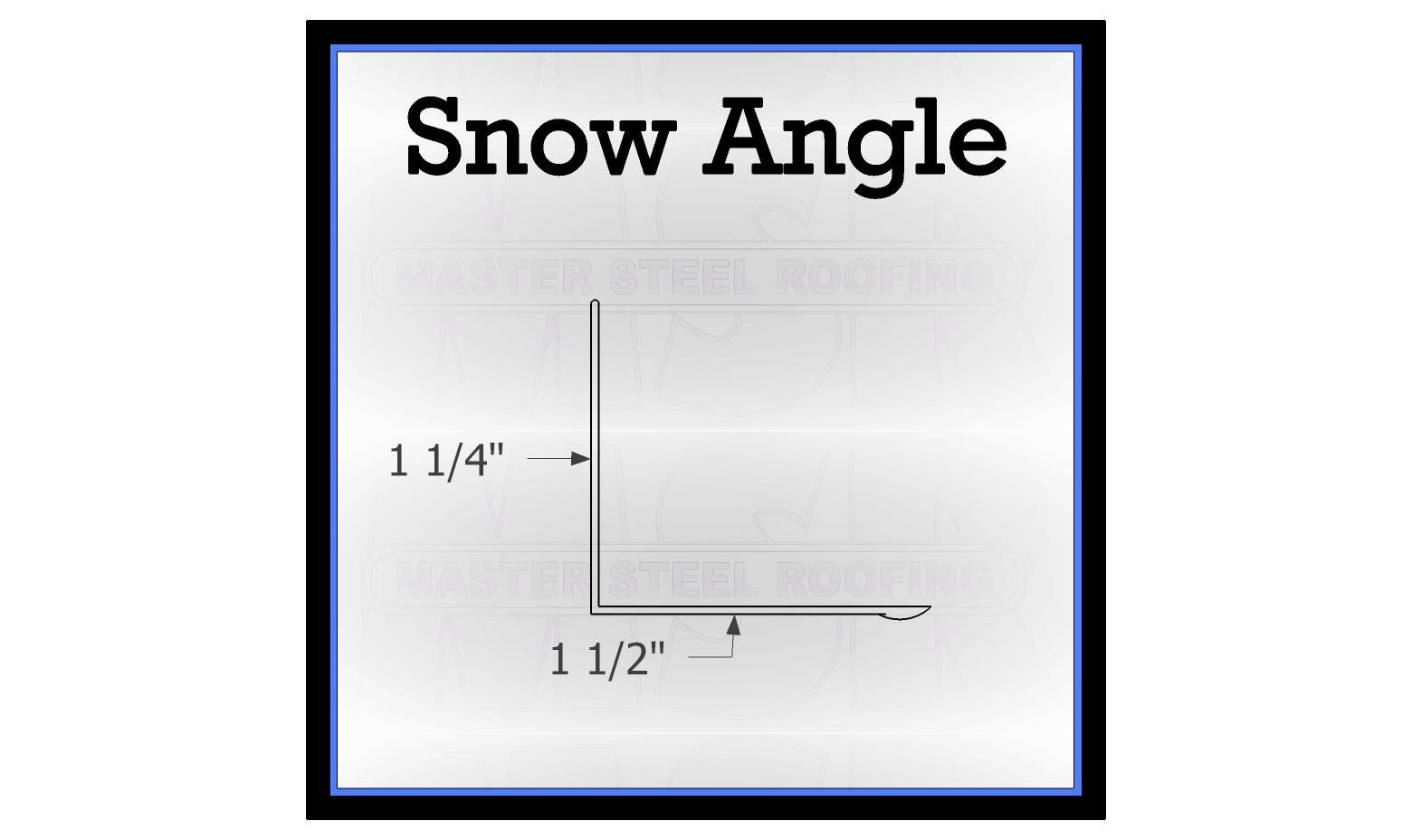 Snow Guard Angle 10 Long 26 Gauge Smp Standard Color