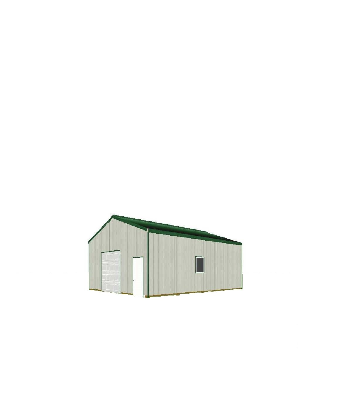 Steel Building Kits And Metal Buildings By Steel Building: 24' X 32' X 10' Post Frame Building Kit