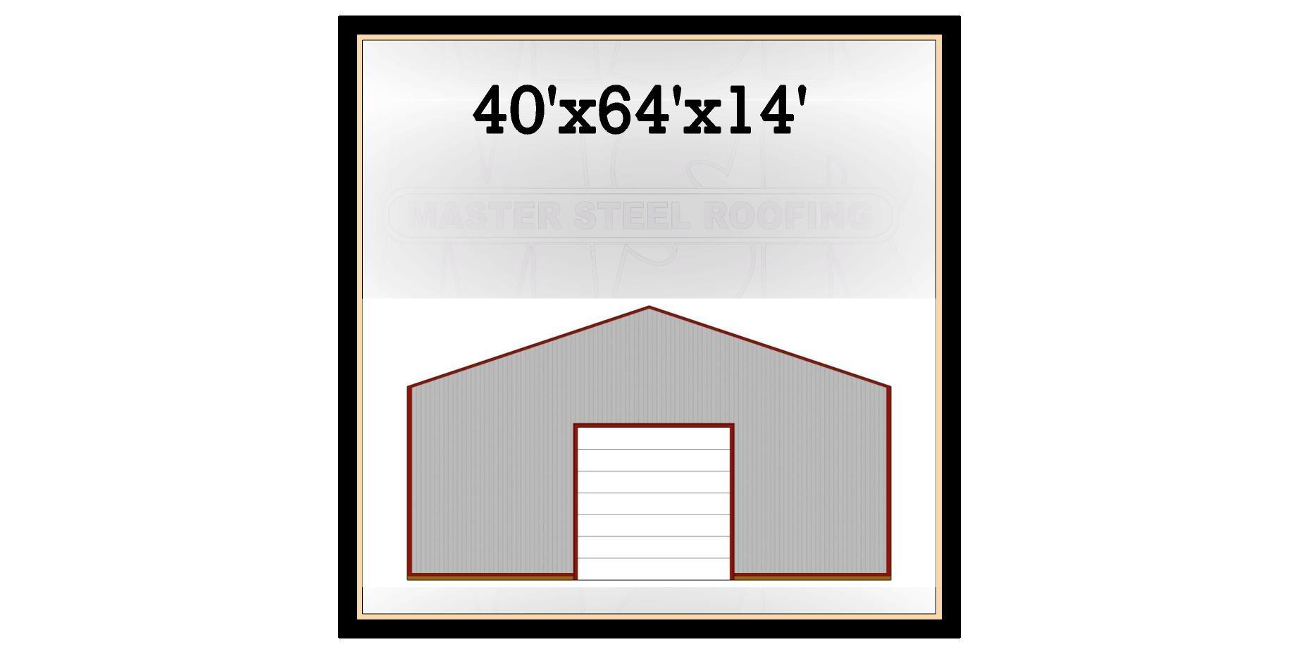 40 39 X 64 39 X 14 39 Post Frame Building Kit Master Steel
